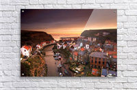 Cityscape At Sunset, Staithes, Yorkshire, England  Acrylic Print