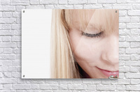 Closeup Of A Woman's Face  Acrylic Print