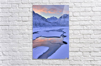 Colorful Sunrise Over A Stream At The Eagle River Nature Center In Chugach State Park, Southcentral Alaska, Winter, Hdr  Acrylic Print