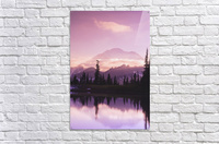 Sunset and a small reflecting pond near tipsoo lake mt. rainer national park near seattle;Washington united states of america  Acrylic Print