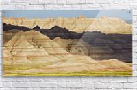 Light and shadows paint the landscape of badlands national park; south dakota united states of america  Acrylic Print