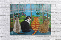 cats in window  Acrylic Print