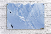 Backcountry Skiing In The Chugach Mountains In Late Winter; Southcentral Alaska, United States Of America  Acrylic Print