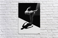 A Woman Prepares To Jump Backwards Off The Edge Of A Pool Into The Water; Tarifa, Cadiz, Andalusia, Spain  Acrylic Print
