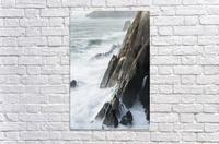 Surf breaks on the rocks; Manzanita, Oregon, United States of America  Acrylic Print