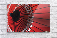 Japanese red umbrella; Kyoto, Japan  Impression acrylique