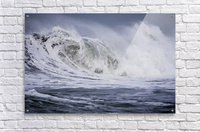 A large wave breaks on a stormy morning; Seaside, Oregon, United States of America  Acrylic Print