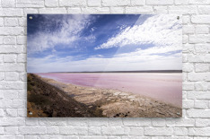 Pink Lake  Acrylic Print