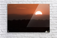Setting sun overtop of the African landscape; South Africa  Acrylic Print