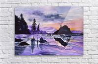 Sunrise Reflection at Second Beach  Acrylic Print