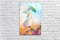 Lady with sunshade, study by Monet  Acrylic Print