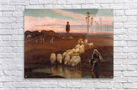 The Ploughman and the Shepherdess  Acrylic Print