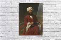An Oriental man writing  Acrylic Print