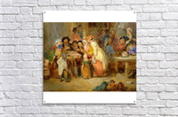 Antique oil painting  Acrylic Print