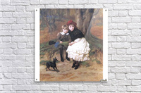 Two children and their dog  Acrylic Print