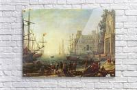 Seaport with the Villa Medici  Acrylic Print