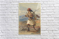 Greek Warrior  Impression acrylique