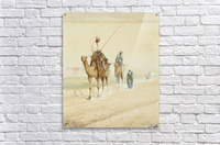 Arab travellers on an egyptian road  Acrylic Print