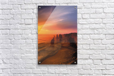 Sunset And Rock Formations  Acrylic Print