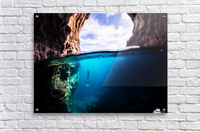 Cave diving  Acrylic Print