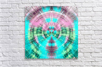 geometric pink blue and green circle plaid pattern abstract background  Acrylic Print