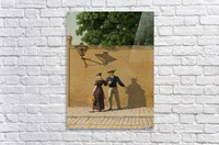 A sailor taking leave of his girlfriend 1840  Acrylic Print