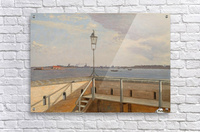 View from the Trekroner Battery with Copenhagen in the distance  Acrylic Print