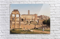 View of the Forum in Rome  Acrylic Print