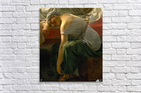 A sleeping woman in antique costume  Acrylic Print