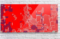 graffiti drawing and painting abstract in red and blue  Acrylic Print