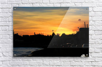 St Kitts Basseterre sunset  Acrylic Print
