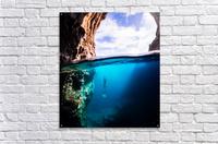 Cave diving vert  Acrylic Print