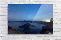 Perseid Over Crater Lake 8 11 2015  Acrylic Print