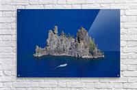 Phantom Ship and tourist boat, Crater Lake National Park     Acrylic Print