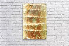 Hawaii, Oahu, Close-Up Of Coconut Palm Tree Bark Texture.  Acrylic Print