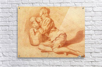 Study of a seated boy leaning on a flagon  Acrylic Print