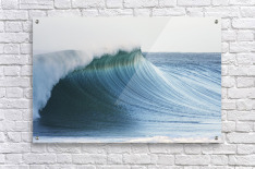 Hawaii, Oahu, Beautiful Wave Breaking.  Acrylic Print