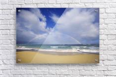 USA, Hawaii, Rainbow at Baldwin Beach; Maui  Acrylic Print