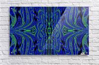 Blue Butterfly in Green  Acrylic Print