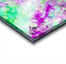 psychedelic geometric triangle abstract pattern in purple and green Acrylic print
