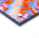 splash painting texture abstract background in red blue orange Acrylic print