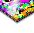 psychedelic geometric pixel abstract pattern in pink purple blue green yellow Acrylic print