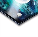 Blue maroon galaxy Acrylic print