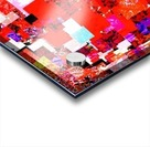 geometric square pixel pattern abstract in red blue pink Acrylic print