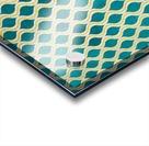 Gold - Turquoise pattern I Acrylic print