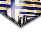 Geometric Gold Dark Blue Marble Acrylic print