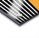 Black & White Stripes with Honey Patch Acrylic print