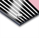 Black & White Stripes with Beauty Bush Patch Acrylic print