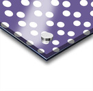 Ultra Violet Polka Dots Acrylic print