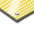 Yellow  White triangle Acrylic print